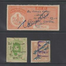 INDIAN STATES - 3 Revenue Stamps (1090)