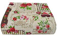 46x 56 cm Tessuto trapuntato con motivo floreale rosso abbronzante stile vintage retr/ò