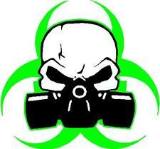 zombie bio hazard skull mask vinyl window decal sticker
