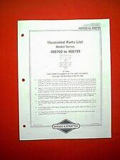 Briggs & Stratton Horizontal 2 Cyl Engine Series 400700 To 400799 Parts Manual
