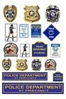 1:87 HO scale model police department signs