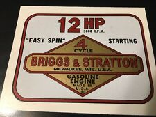 Briggs & Stratton  Toro 12-hp decal set Wards MTD