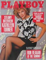 KATHLEEN TURNER May 1986 PLAYBOY Magazine CHRISTINE RICHTERS /NUDE FIRE FIGHTERS