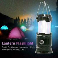 3-in-1 Camping Lantern Portable Outdoor LED Flame Lantern Flashlights US V2 N5D1