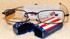 Foster Grant Compact Folding Reading Glasses +2.00 US FLAG EDITION