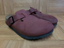 RARE🔥 Birkenstock Boston Closed Toe Slip On Sandal Slide 38 L7 M5 Burgundy