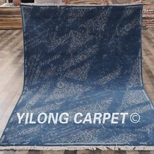 Yilong 5'x7' Abstract Handmade Wool Area Rug Woolen Hand knotted Carpet C65S