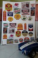 G LGB 1:24 Scale Railway Layout Diorama Vintage Garage Adverts Notices Signs