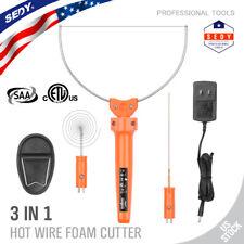 Cuchillo caliente Cortador de espuma de poliestireno Grabado Punta de alambre caliente 3 en 1 Kit de herramientas de potencia
