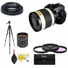 6.3 MIRROR TELEPHOTO ZOOM LENS 500-1000MM +TRIPOD FOR CANON EOS REBEL CAMERAS