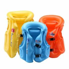 Inflatable Life Vest Jacket For Kids Unisex PVC Material Plastic Schnalle