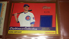 2016 Topps Heritage Cubs Kris Bryant GOLD Clubhouse Collection Relic ** 01/99 **