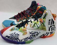 "Nike Lebron XI 11 Premium ""What The Lebron"" Basketball Shoes Size 11 650884-400"