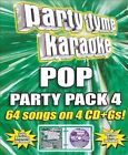 NEW Party Tyme Karaoke - Pop Party Pack 4 [4 CD] (Audio CD)