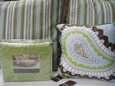 DESIGNSPACE PAISLEY KING DUVET SET + 2 EURO PILLOW SHAMS + DECORATIVE PILLOW-6PC
