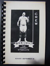 Bon Jovi Production Tour Book 1989 WHILE SUPPLIES LAST!