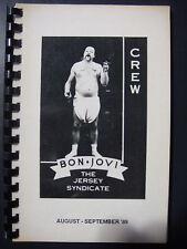 Bon Jovi Production Tour Book 1989 MAKE AN OFFER!