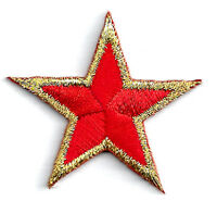 """One Dozen #2196R Lot 12Pcs 1-5//8/"""" Red Star Embroidery Iron On Applique Patch"""