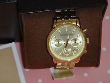 Michael Kors Frauen Chronograph Ritz Gold Tone S/Stahl Uhr 36mm MK5676 Kristalle