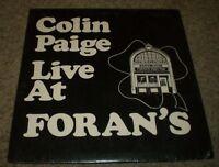 Colin Paige Live At Foran's Irish Pub~Traditional Irish Folk~Insert~FAST SHIP!!!