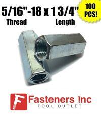 Qty 100 516 18 X W12 X L 1 34 Coarse Grade A Hex Rod Coupling Nut Zinc