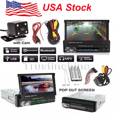 "1 DIN Single 7"" HD Touch Screen Car MP5 DVD Player Bluetooth Radio+Camera US!"