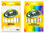 Pack of 12 Chalks White Coloured Chalk Sticks School Art Blackboard Pavement