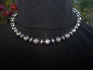 NEW~$350~Sterling 10mm Navajo Pearls Necklace / Bracelet~Western Vintage Revival
