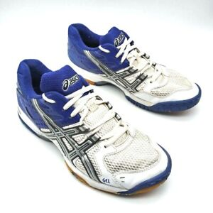 Asics Womens Gel Rocket Volleyball Shoes Purple Lace Up Mesh Sneakers B257N 9
