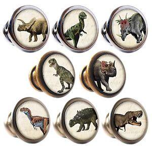Zinc Alloy Knobs Dinosaurs 30mm Cupboard Drawer Door Handles Decorated