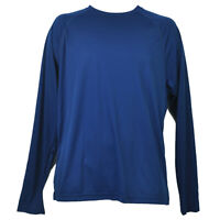 Navy Blue Dry Fit Tshirt Tee Mens Adult Long Sleeve Plain Blank Crew Neck Solid