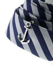 Anchor Tie Clip Bar-Cravatta Sottile-spedizione NAUTICA VELA-Da Uomo Novità Regalo