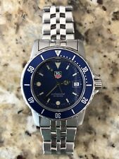 Tag Heuer Professional 1500 WD1214 Men's Watch in Stainless Steel Blue