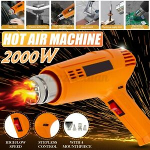 2000W Industrial Electric VonHaus Heat Hot Air Gun Tool 60-600℃ Paint Stripper