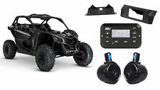 "Can-Am Maverick X3 Digital Media Bluetooth Receiver+Kit+(2) 8"" Tower Speakers"