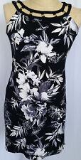 White House Black Market Women's Dress Floral Small Sleeveless