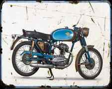 Ducati 125 Sport 67 A4 Metal Sign Motorbike Vintage Aged