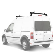 """Ford Transit Connect 2008-13 Aluminum 2 Bar 50"""" Utility Drilling Roof Rack Black"""