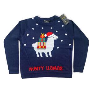 Brave Soul Merry Llamas Christmas Jumper Xmas Festive Size 14 Medium