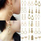 Elegant Women Gold Hook Earrings Ear Stud Long Dangle Hoop Jewelry Gifts