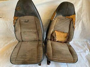 1970-1974 Mopar E Body Bucket Seats & Tracks Cuda AAR Challenger RT TA Pair