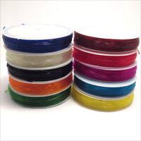 Lot de 10 Bobines Cordon Fil Elastique 1mm – 5 mètres x 10 Mélange de couleurs