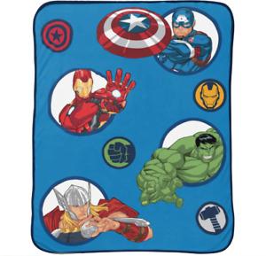 "Marvel Avengers Hero Time 46"" x 60"" Plush Throw"
