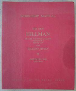 GENUINE HILLMAN MINX / HUSKY & COB WORKSHOP MANUAL PLUS EXTRAS IN V/G CONDITION