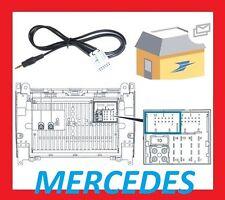 Cable auxiliaire aux adaptateur mp3 autoradio Mercedes Classe C W203