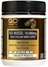 GoHealthy GO Mussel NZ Green Lipped Mussel 19,000 HIGH STRENGTH 300 Capsules