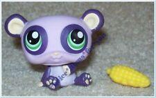 LITTLEST PET SHOP #1305 PANDA BEAR : PURPLE : GREEN DOT EYES : Generation 3