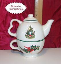 Pfaltzgraff CHRISTMAS HERITAGE Original Tea for One 3 Piece Set NICE!