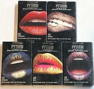 Lot of 5, Maybelline Python Metallic Lip Kit
