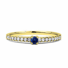 9 Carat Engagement Yellow Gold Sapphire Fine Rings